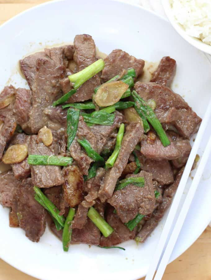 Stir Fry Beef with Ginger and Scallions