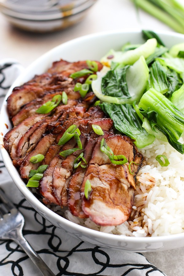 Chinese Barbecue Pork (char Siu) and Bok Choy Rice Bowl