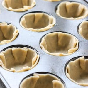 Unbaked pie crusts for Mini Chocolate Chess Pie