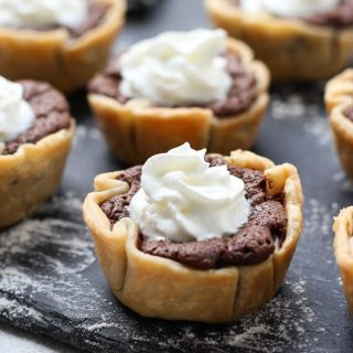 Mini Chocolate Chess Pie closeup