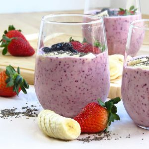 Berry Banana Chia Smoothie