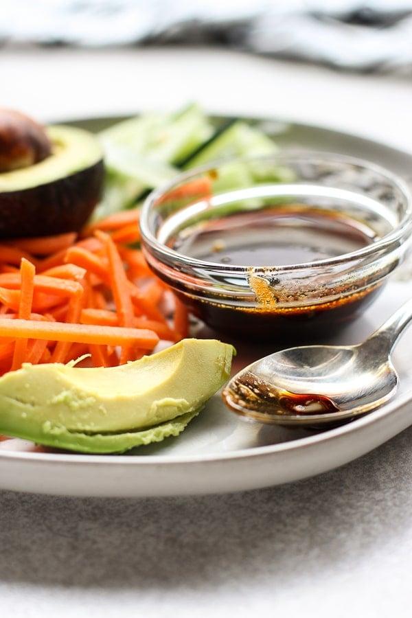 Garnishes for Baked Salmon Sushi Bowl