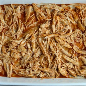 Layering Chicken Enchilada Casserole