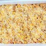 Layering Chicken Enchilada Casserole
