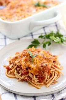 Cheesy Tomato Chicken Spaghetti