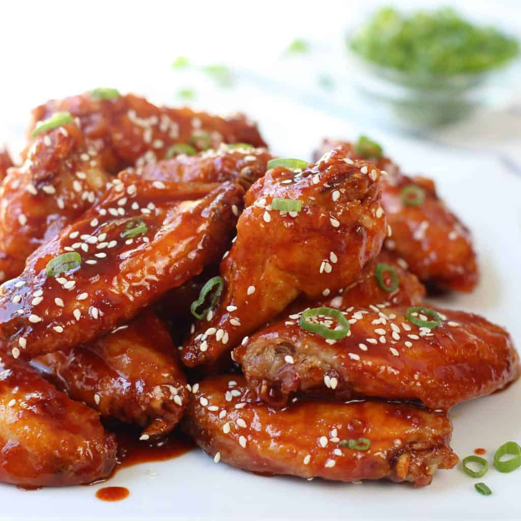 Spicy Baked Korean Chicken Wings