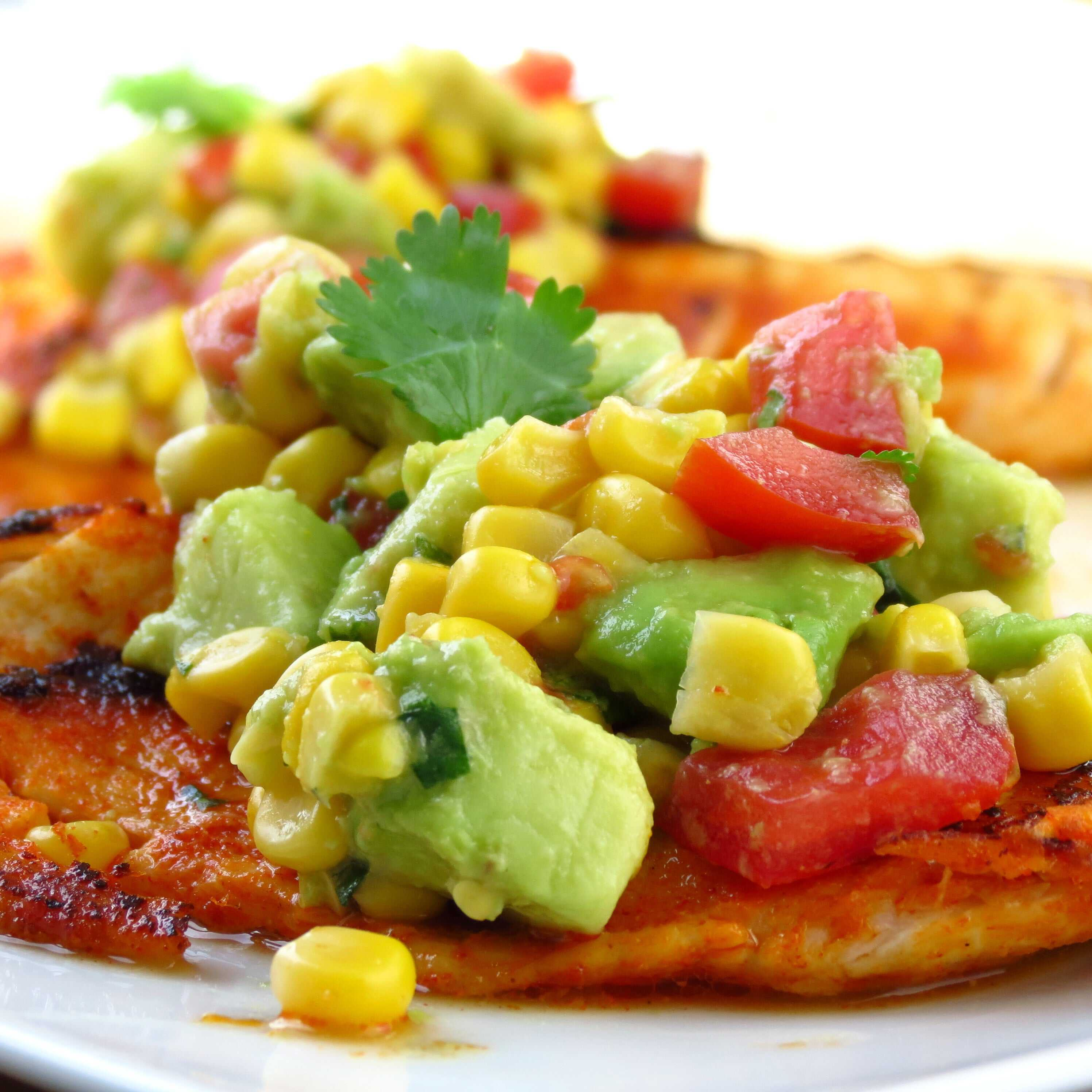 Tilapia with Avocado and Corn Salsa