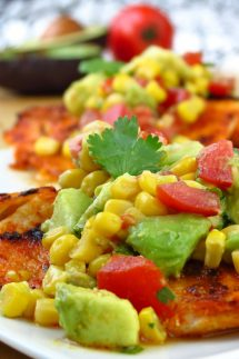 Tilapia with Avocado and Corn Salsa