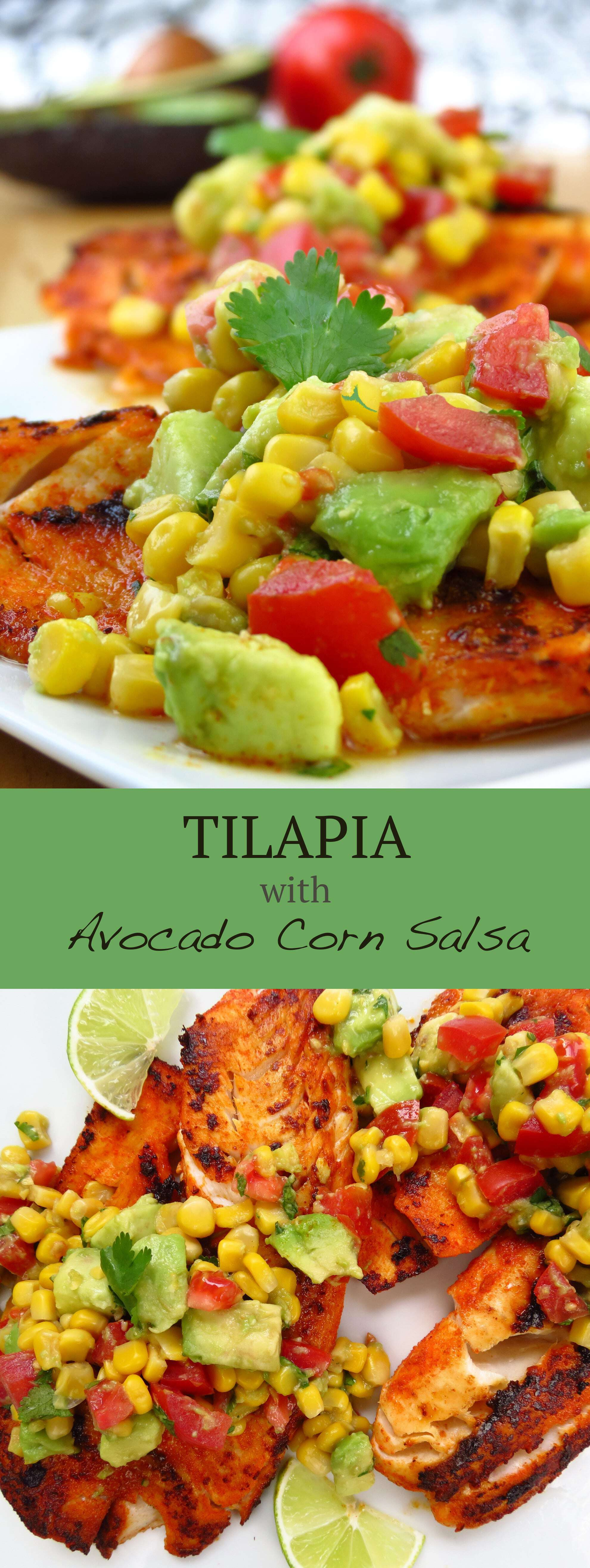 Tilapia with Avocado Corn Salsa