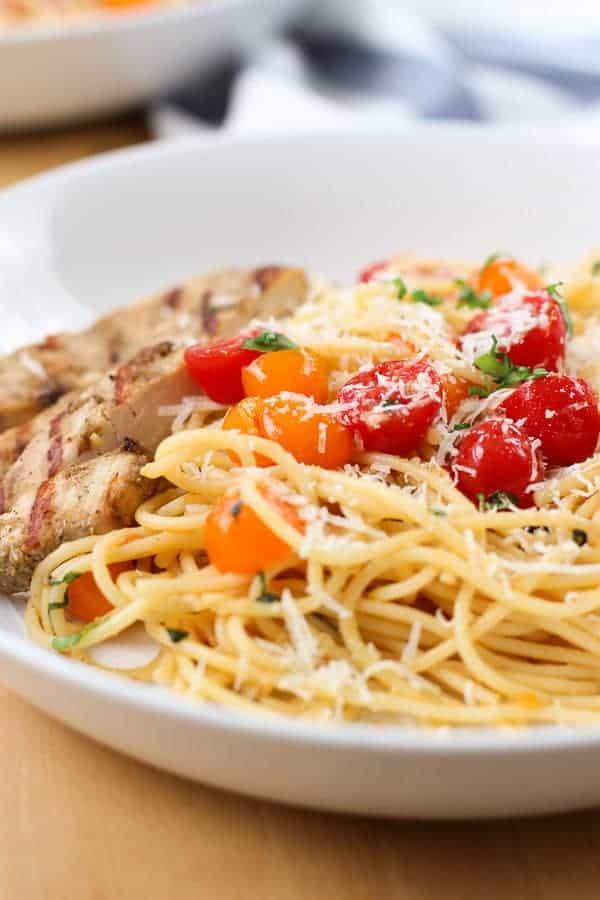 Cherry Tomato Basil Pasta with Chicken