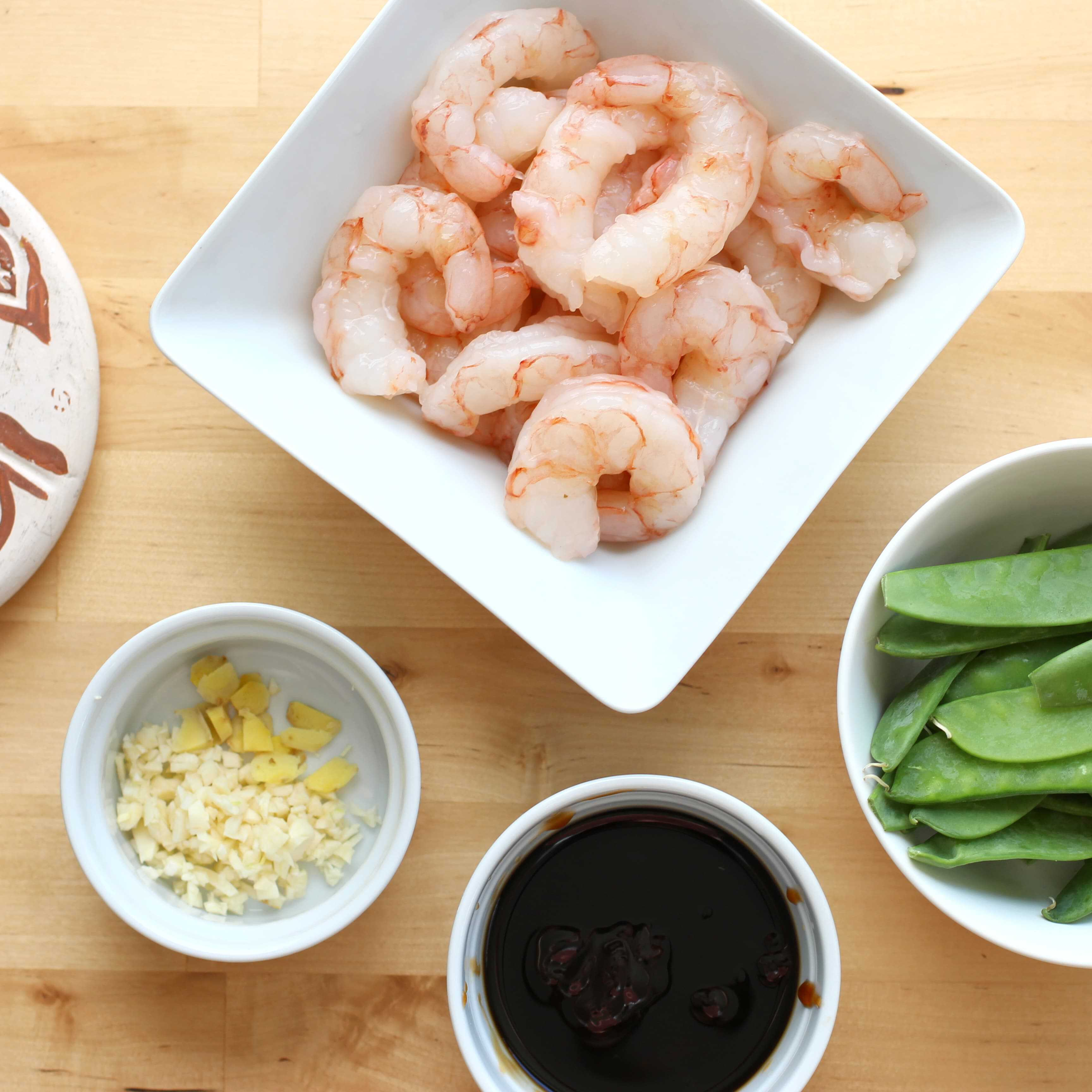 Shrimp and Snow Pea Stir Fry with Savory Sweet Sauce