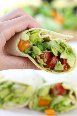 Avocado Tomato Salad Power Wrap
