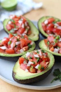 Pico de Gallo Stuffed Avocado