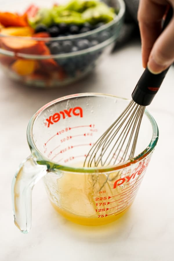 Mixing Honey Lime Dressing