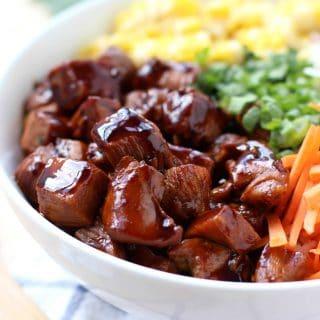 Garlic Soy Chicken and Veggie Bowl