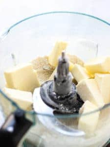 Butter in food processor