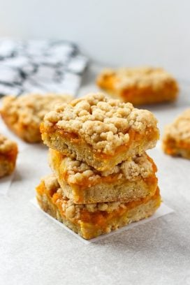 A stack of Mango Crumb Bars