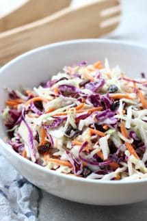 Light Raisin Coleslaw
