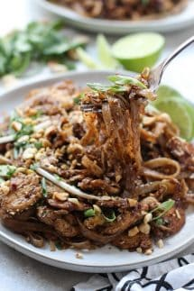 A bowl of Pad Thai noodles