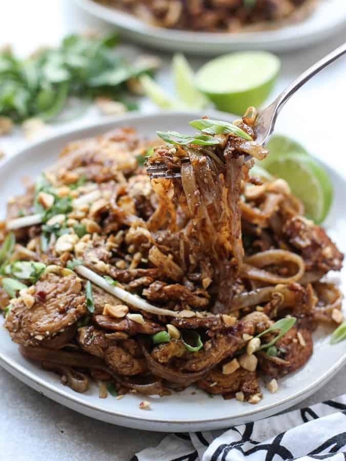 A bowl of Pad Thai noodles