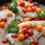 White Wine Tomato Skillet Chicken