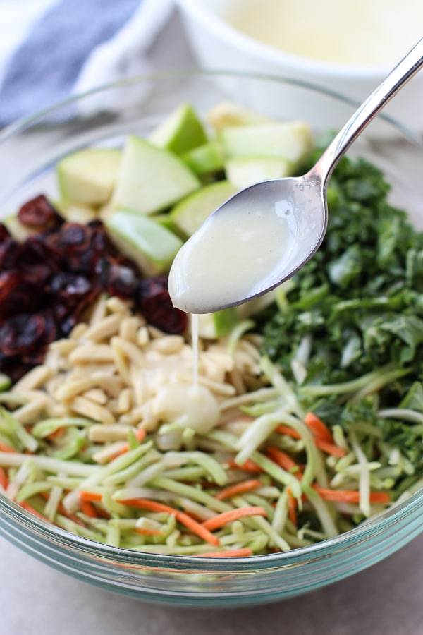 Broccoli, Kale, Apple and Cranberry Slaw