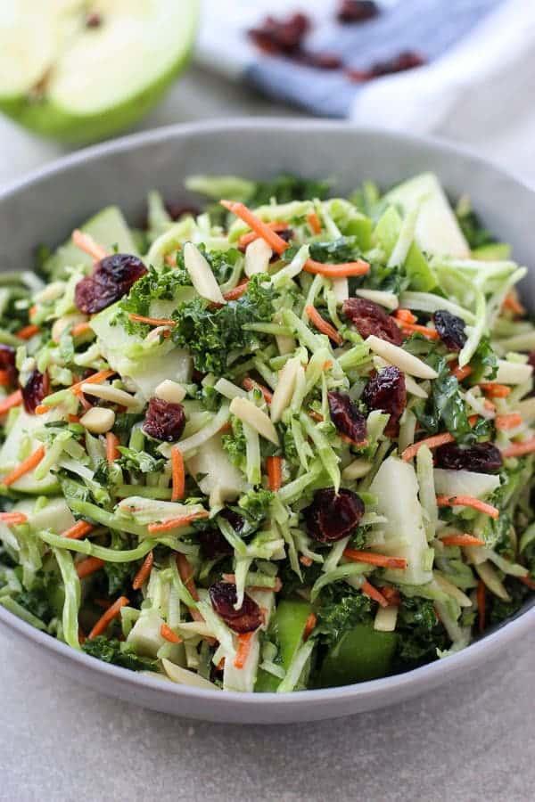 Broccoli, Kale, Apple and Cranberry Slaw