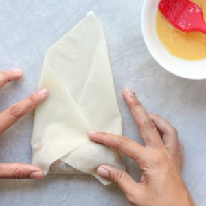 Wrapping Vietnamese Egg Roll