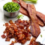 Ingredients (bacon and green onions) to make Bacon Ranch Cheeseball