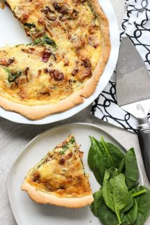 Bacon, Spinach and White Cheddar Quiche