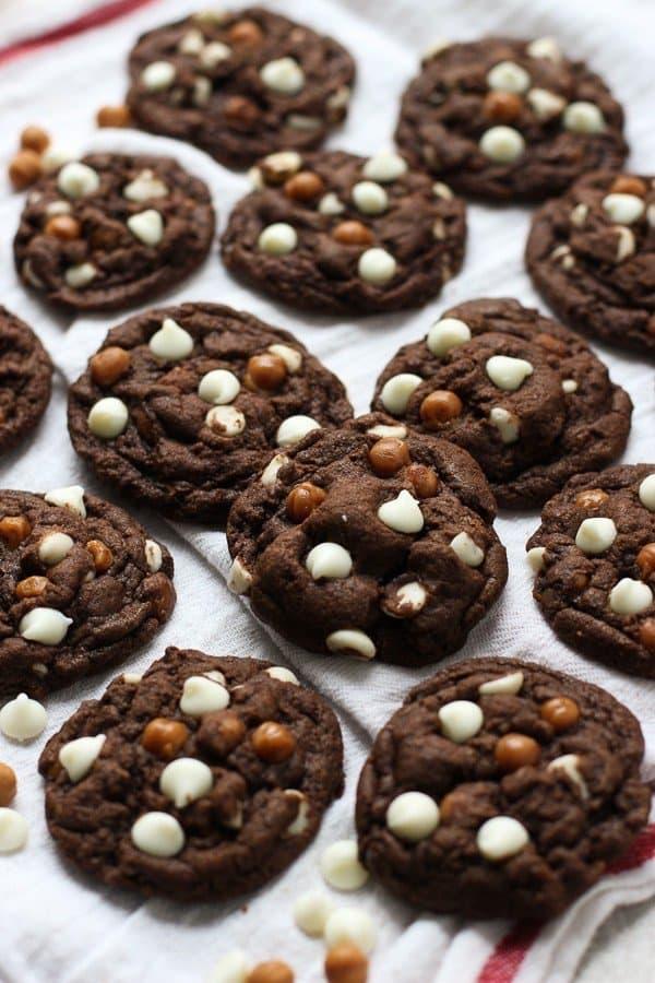 Caramel White Chocolate Chip Chocolate Cookies