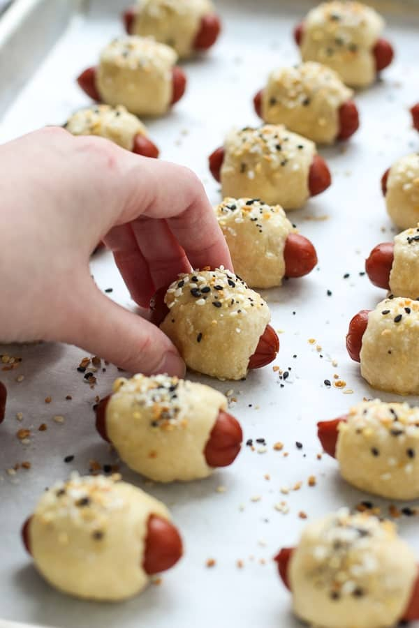 Everything Bagel Pigs in the Blanket fresh from the oven