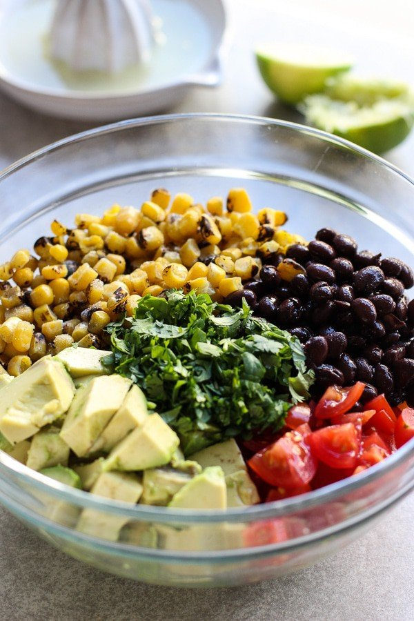 Ingredients for Avocado Corn and Black Bean Salsa