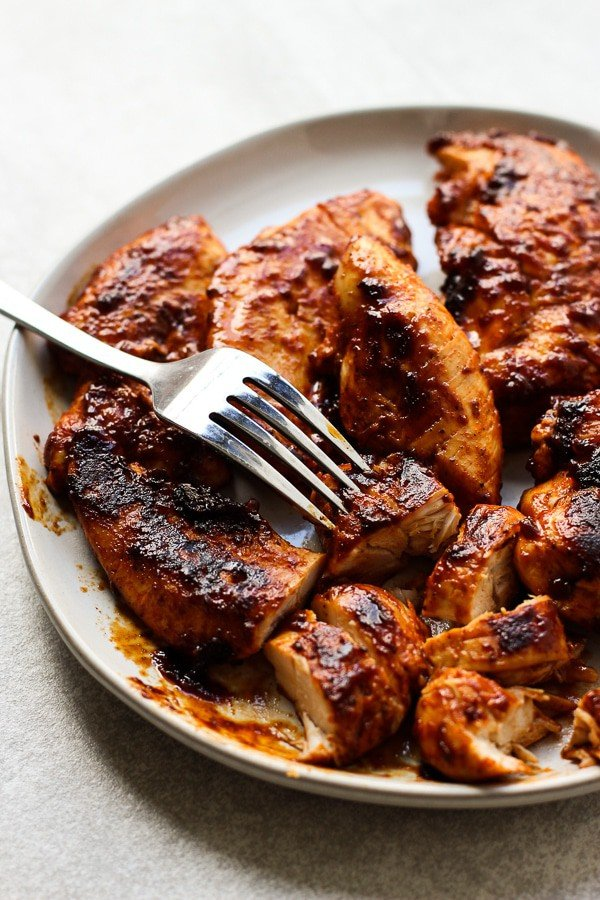 Pan-fried BBQ Chicken