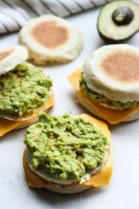Assembling breakfast sandwiches