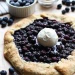 Blueberry Galette with Vanilla ice cream