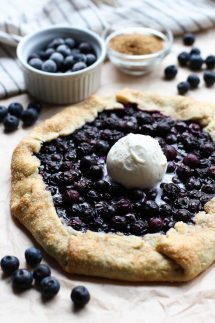 Blueberry Galette with Vanilla ice cream