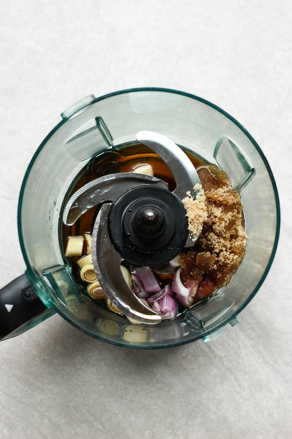 Marinate for pork in a food processor