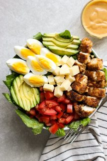 A bowl of Crispy Chicken Salad