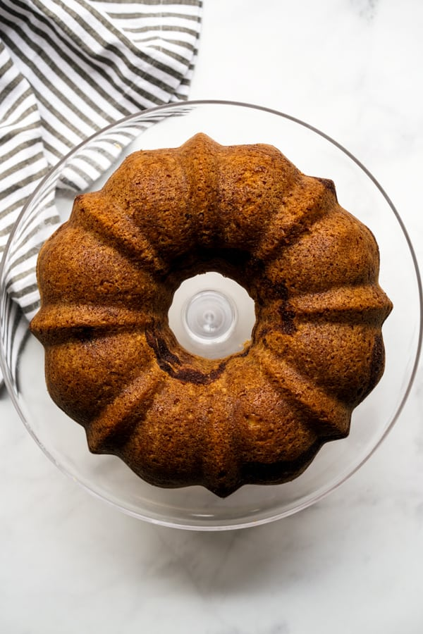 Cinnamon Bundt Cake without icing