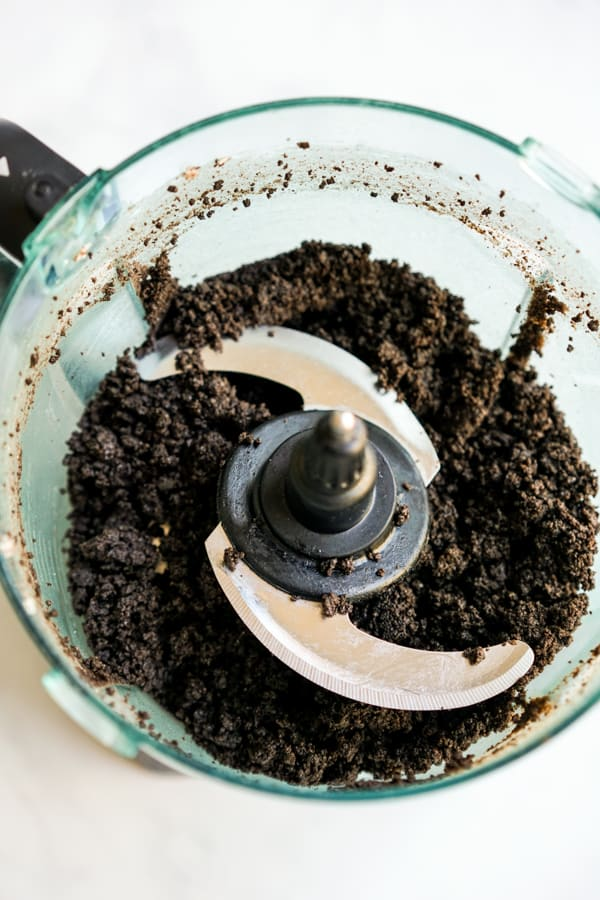 Oreo crumbles in food processor