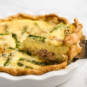 Lifting up a triangular slice of quiche