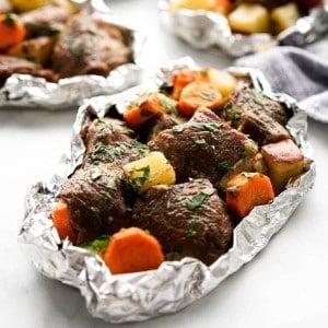Cajun Steak and Potatoes in a Foil Pack