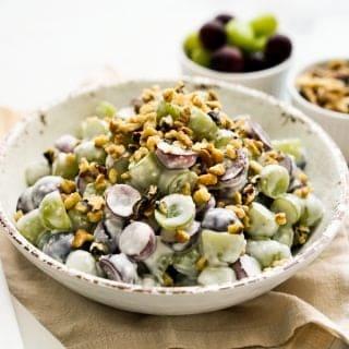A bowl of Grape Walnut Salad