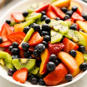 A bowl of fruit salad
