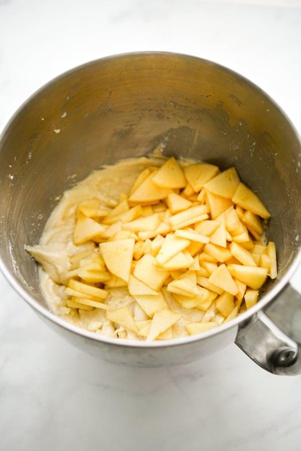 Apple bread mixture