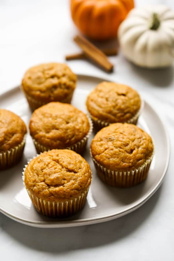 A plate of muffins