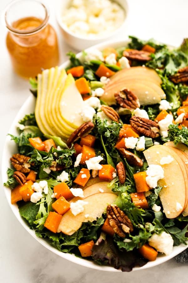 Closeup of Fall Harvest Salad